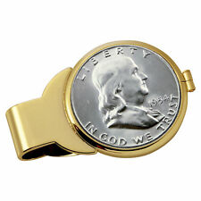 NEW Year to Remember Goldtone Half Dollar Coin Money Clip 1963