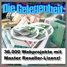 36.000 MEGA-Projekte mit Master-Reseller-Lizenz