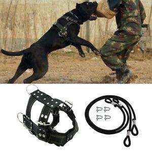 Heavy Duty Dog Weight Pulling Harness Leash Large Training Working Vest Pitbull