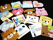 Season Greeting Birthday Thanks Mini Card Gift Tags Craft Scrapbooking 15 pcs