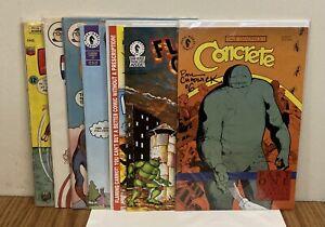 Flaming Carrot 25, 26 TMNT Burden, Concrete Chadwick Signed + Herbie Comics