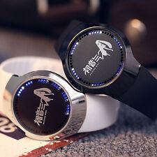 Anime Hatsune Miku LED Touch Screen Electronic Watch Strap Wristwatch Sport Gift
