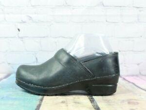 DANSKO Classic Women's Black Comfort Leather Clogs Size EU 36 US 6