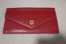 OROTON Travel Wallet RED LEATHER Gold Hardware - Never Used Heritage Classic