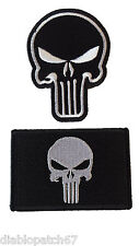 Punisher Skull Military Tactical Airsoft Paintball Operator Cap Patch set of 2