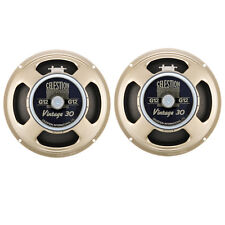 "PAIR NEW CELESTION VINTAGE 30 GUITAR SPEAKERS 12"" 8ohm"