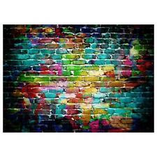 Backdrop Graffiti Brick Wall Art Fabric Backdrop Photography Background L&6