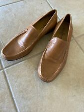 Cole Haan C08133 Golden-Brown Leather moc slip-on Casual Loafers Size 10.5 M C6
