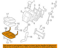 TOYOTA Genuine 71650-48050 Seat Cushion Frame