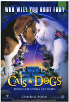 CATS & DOGS MOVIE POSTER Original DS 27x40 Rolled  2001 Film