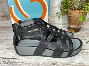 Women's Baretraps Lorra Black Gladiator Sandals Rebound Tech Size 8 M
