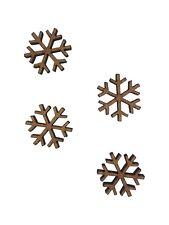 20x Christmas Snowflake 2cm Wood Craft Embelishments Laser Cut Shape MDF