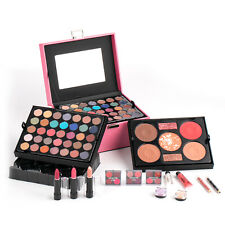 Pink Mixed Beauty Makeup Set Kit Eyeshadow Blusher Lipstick Palette Professional