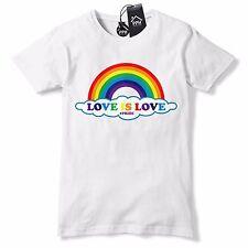 Love is Love Gay Pride T Shirt Rainbow Tshirt glitter Lesbian LGBT Festival 605
