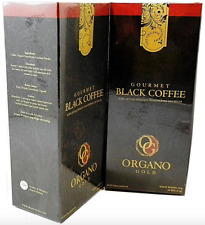 2 Boxes Organo Gold Black Coffee Cafe 100% Ganoderma Lucidum
