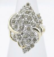Women's 14k SOLID Gold Cluster 2.48 tcw White / VS1-SI2 GIA Spec Diamond Ring