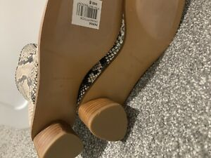Tony Bianco Snake Print Mid Ankle Boots Au8 New Never Worn NEW