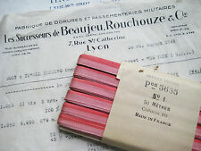 "Vintage French Pinky/Red Ombre Rayon Ribbon Flowers 1/4"" 3 yards"