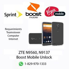 Unlock SIM CARD ZTE N9560/ N9137  Boost Mobile,Virgin and Sprint and