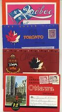 4 Vintage 1960's Fold-Out Postcard View Books: TORONTO, MONTREAL, QUEBEC, CANADA