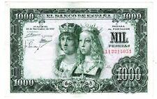 Espagne SPAIN ESPANA Billet 1000 PESETAS 1957 P149 REYES CATOLICOS VF / BON ETAT