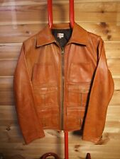 Levi's LVC Scorched Up Leather Jacket Large Tan Brown Aero