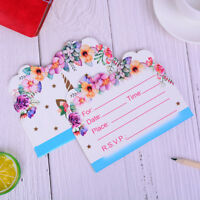 10pcs  invitations cards kids birthday wedding party paper invitation WH