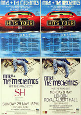 MIKE AND THE MECHANICS FLYERS X 4 - 2015 THE HITS & 2011 HIT THE ROAD GENESIS
