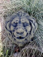 Löwe Kopf Löwenkopf Wandbild Relief Sandstein Antik Look Steinguß E 25 GRAU