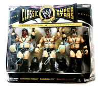 WWE CLASSIC 3 PACK AX AND SMASH DEMOLITION HAND SIGNED ACTION FIGURES WITH COA