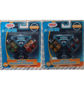 Thomas & Friends Minis LIGHT UPS PERCY BEN STEPHEN THOMAS Lot of (2) 2-Packs