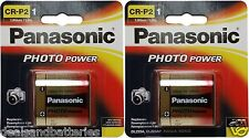 2 Panasonic CRP2 DL223A EL223A K223LA 5024LC 6 Volt Lithium Batteries Exp. 2025