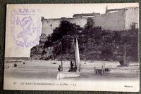 CPA. ILE SAINTE MARGUERITE. 06 - Le Fort. Cachet Prison du Masque de Fer.