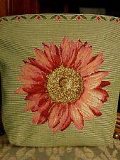 Belgian Tapestry Small Bag ~ Pink & Green Sunflower