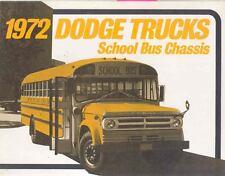 1972 Dodge School Bus Brochure wj1151-PPKLXE