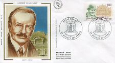 FRANCE FDC - 2966 2 ANDRE MAGINOT - REVIGNY 9 Septembre 1995 - LUXE sur soie