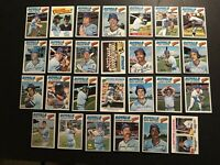 1977 Topps KANSAS CITY Royals COMPLETE Team Set GEORGE BRETT Amos OTIS AL COWENS