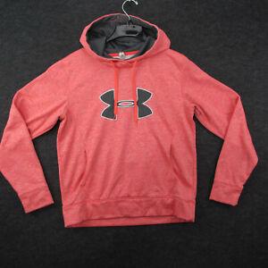 Under Armor Hoodie Women's Size L Pink Pullover Hooded Sweatshirt