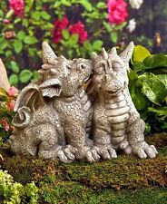 Couple Dragon Garden Statues Lawn Art Yard Patio Porch Deck Home Decor