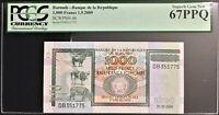2009 Burundi 1,000 Francs - P-46, PCGS  graded Superb Gem New 67 EPQ  #36308