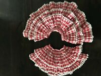 Paper Wings Glitter Red Gingham Heart Trim Tiered Ruffle Skirt 5Y