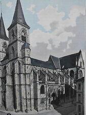 CHAUMONT Eglise St Jean Baptiste PHOTOGRAVURE  la FRANCE de l' EST C.GILLOT 1902