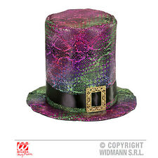 Adults Halloween Gothic Top Hat Topper Buckle Accessory Emo Vampire Fancy Dress