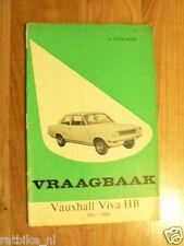 VAUXHALL VIVA HB 1967-1968 VRAAGBAAK TECHNICAL INFO