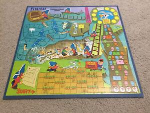 Yosemite Sam's Treasure Hunt Board Game 1971 Vintage Replacement Board Parts