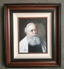 "David Pelbam Original Jewish RABBI Oil Painting 1950's -1970's  18"" by 16"" Nice"