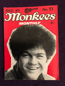 Original Monkees Monthly Magazine No.11 Dec 1967 (US answer to The Beatles)