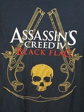 "ASSASSINS CREED T Shirt Black Flag Skull Size small 34"" chest"