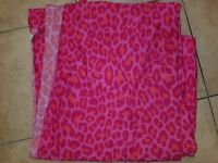 Victoria's Secret Pink Cheetah Queen Flat Sheet
