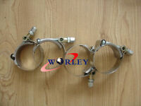 """4pcs x 2"""" Inch / 51mm ID Stainless Steel T-Bolt Silicone Hose Clamps (58-63mm)"""